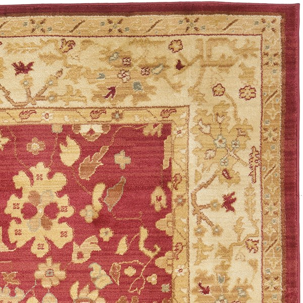 Red, Cream (1739-4011) Traditional / Oriental Area Rug