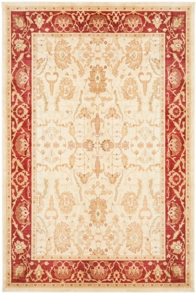 Cream, Red (1666-1140) Traditional / Oriental Area Rug