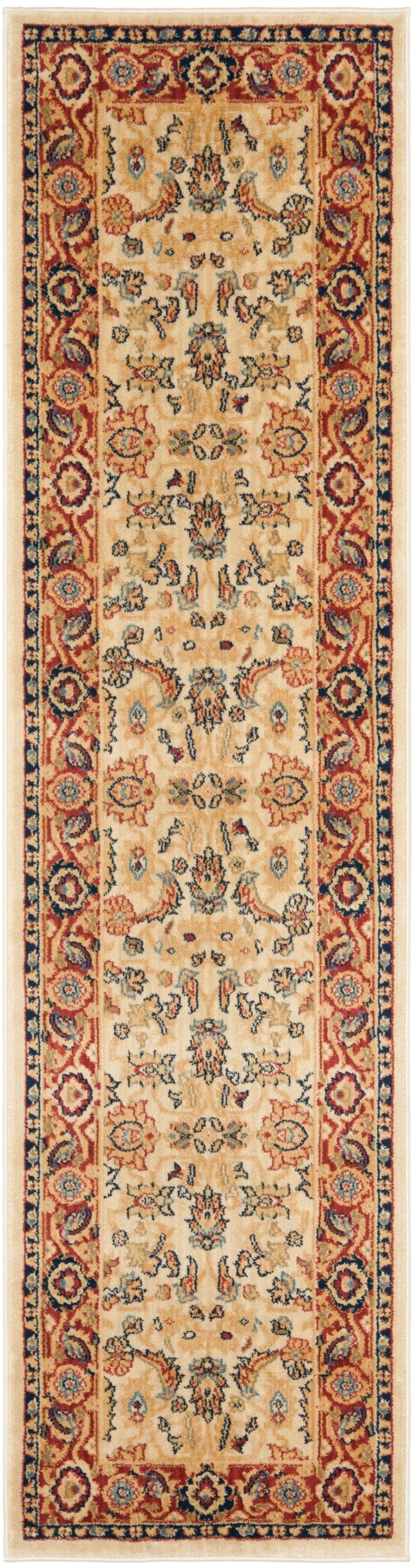 Creme, Red (1140) Traditional / Oriental Area Rug
