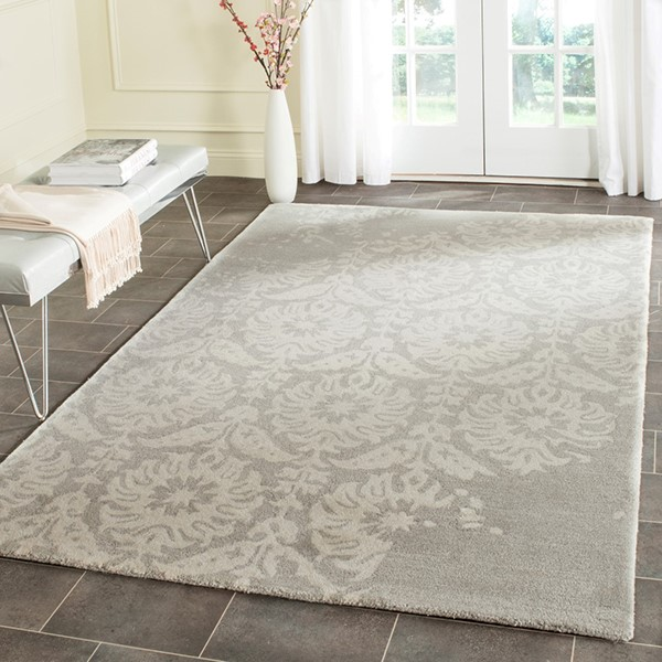 Light Grey, Ivory (B) Transitional Area Rug