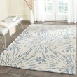 Product Image of Dark Blue, Ivory (B) Contemporary / Modern Area Rug