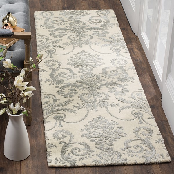 Ivory, Grey (A) Traditional / Oriental Area Rug