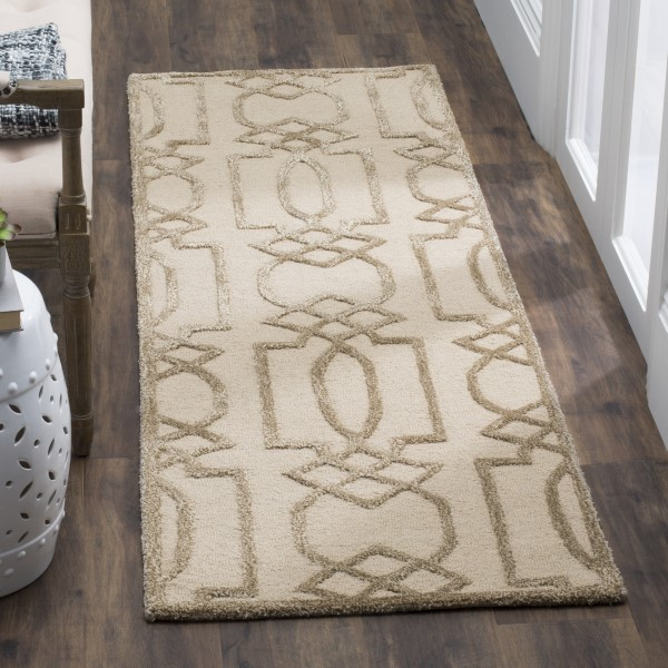 Sand, Brown (A) Contemporary / Modern Area Rug