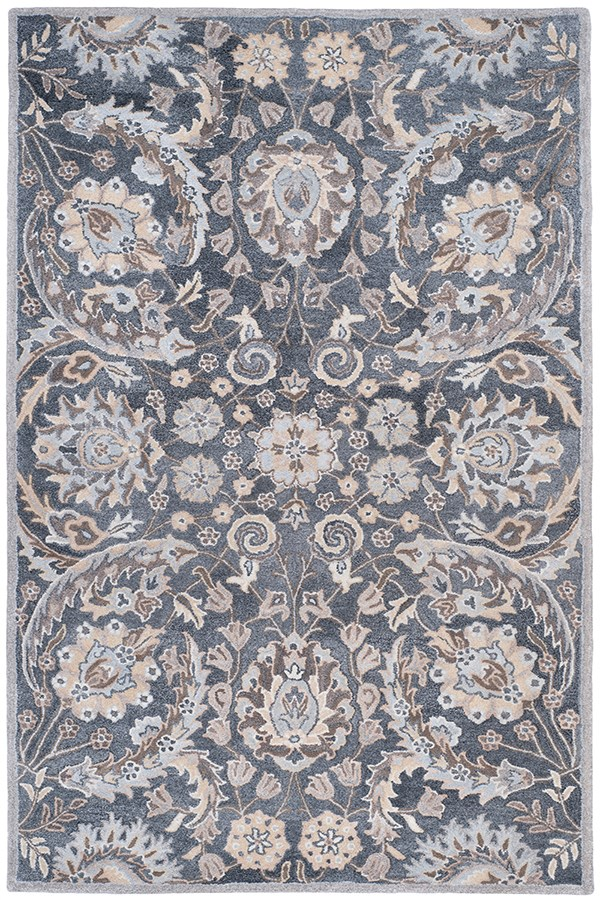 Grey (B) Traditional / Oriental Area Rug