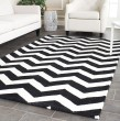 Product Image of Ivory, Black (A) Chevron Area Rug