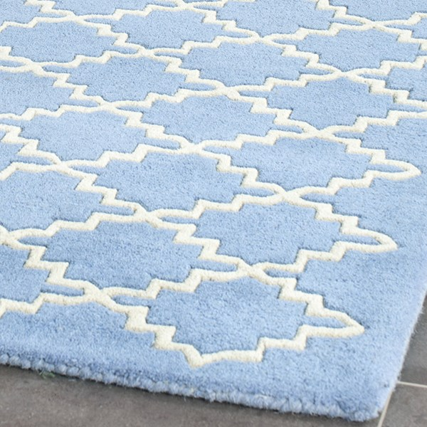 Blue, Grey (A) Transitional Area Rug