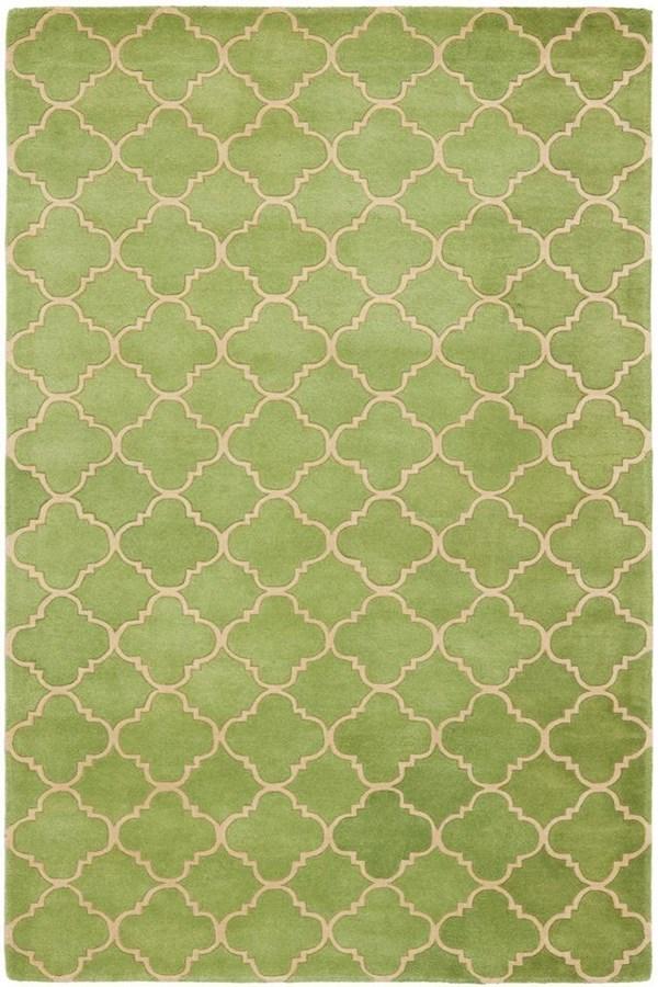 Green, Beige (B) Moroccan Area Rug
