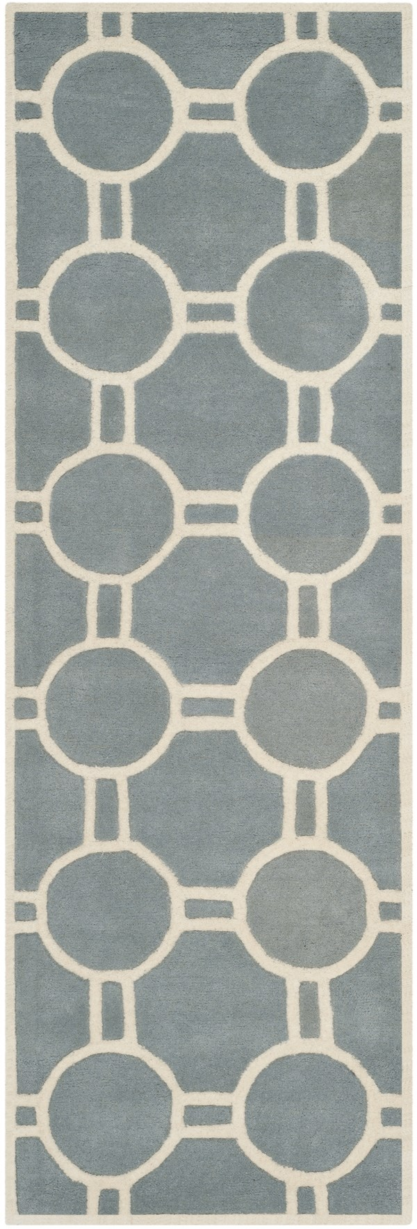 Blue, Ivory (B) Moroccan Area Rug