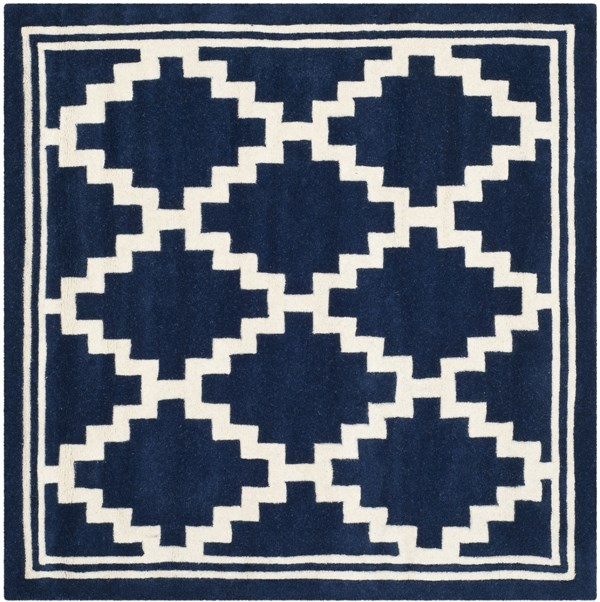Navy, Ivory (C) Transitional Area Rug