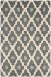 Product Image of Contemporary / Modern Dark Grey, Ivory (D) Area Rug