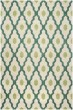 Product Image of Contemporary / Modern Ivory, Teal (V) Area Rug