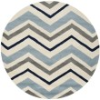 Product Image of Ivory, Dark Grey (X) Contemporary / Modern Area Rug