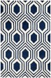 Product Image of Contemporary / Modern Dark Blue, Ivory (C) Area Rug
