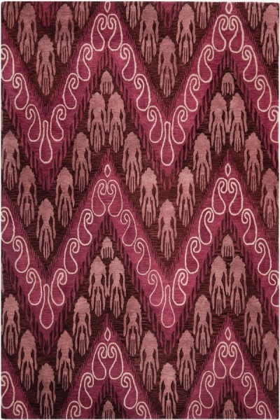 Dark Purple, Purple (A) Ikat Area Rug