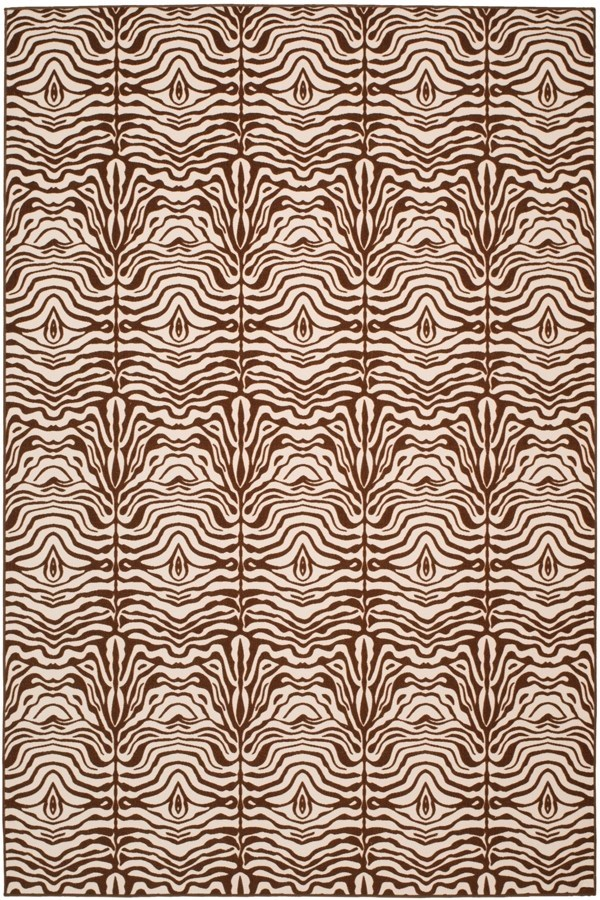 Creme, Brown (1125) Contemporary / Modern Area Rug