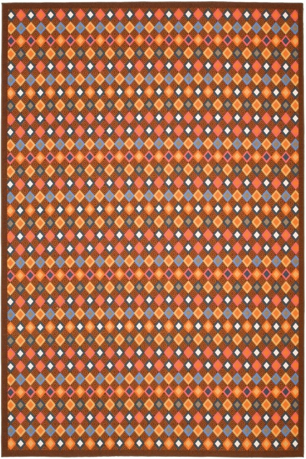 Brown (2591) Contemporary / Modern Area Rug