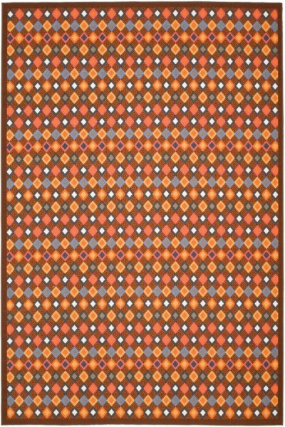 Brown (2591) Contemporary / Modern Area Rug