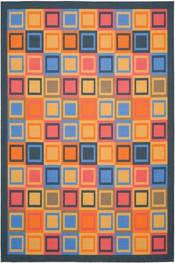 Blue (6591) Contemporary / Modern Area Rug