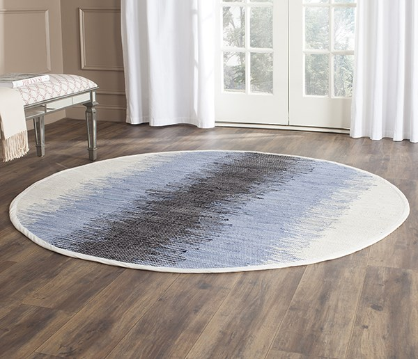 Grey, Black (A) Striped Area Rug