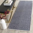 Product Image of Navy, Ivory (C) Rustic / Farmhouse Area Rug