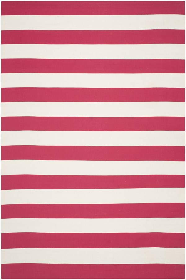 Red, White (B) Striped Area Rug