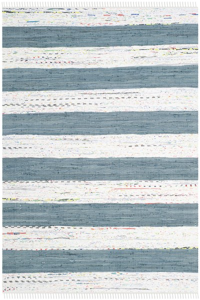 Ivory, Grey (A) Striped Area Rug