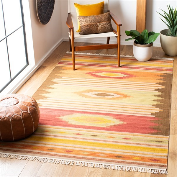 Brown (A) Southwestern Area Rug