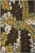 Product Image of Floral / Botanical Blue, Brown (6525) Area Rug