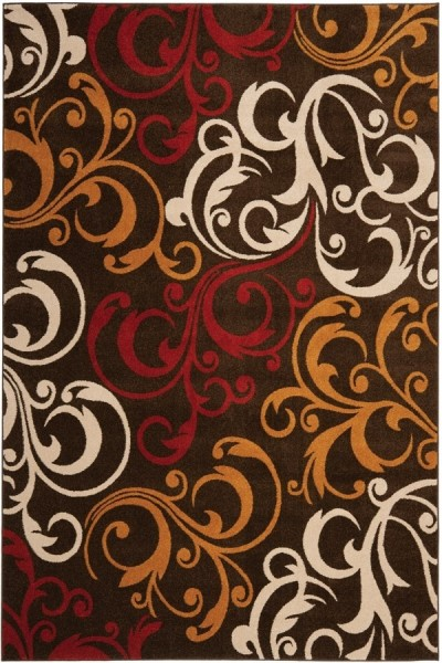 Brown, Gold (2520) Transitional Area Rug