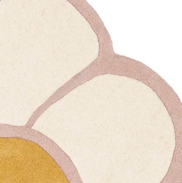 Ivory, Pink (A) Floral / Botanical Area Rug
