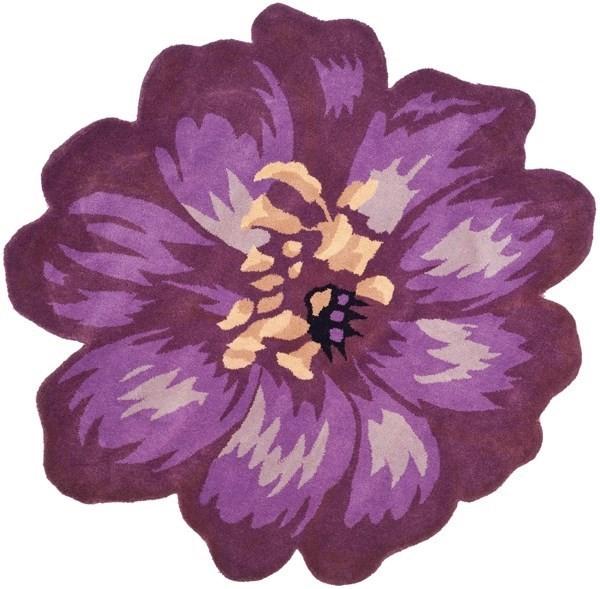 Lilac (A) Floral / Botanical Area Rug