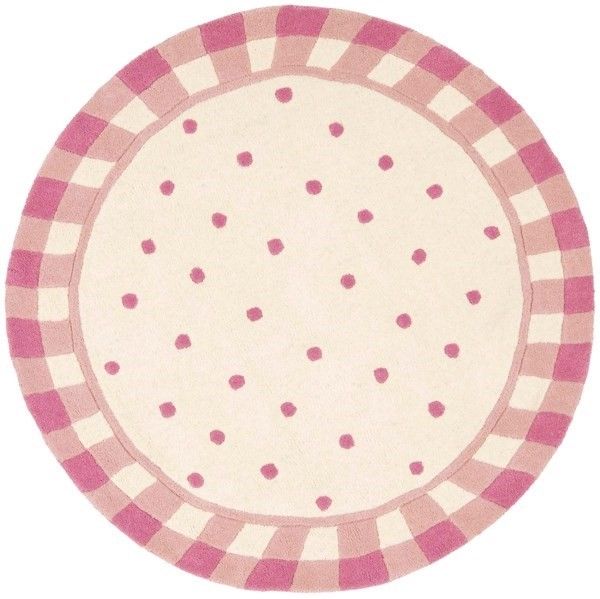 Ivory, Pink (A) Children's / Kids Area Rug