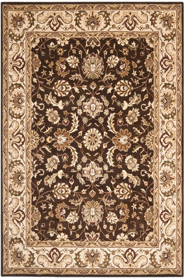 Chocolate, Beige (A) Traditional / Oriental Area Rug
