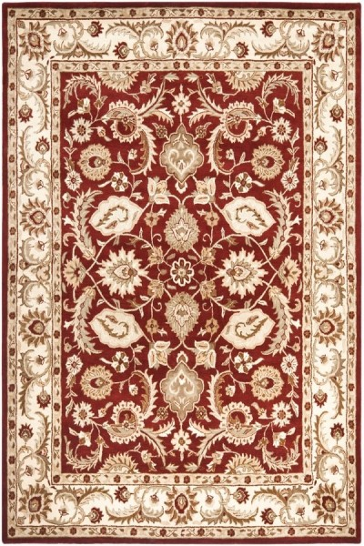 Red, Ivory (B) Traditional / Oriental Area Rug