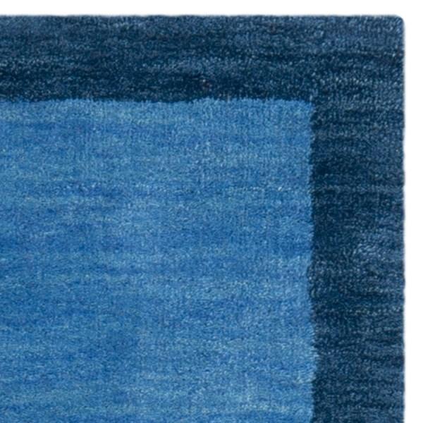 Light Blue, Dark Blue (A) Bordered Area Rug