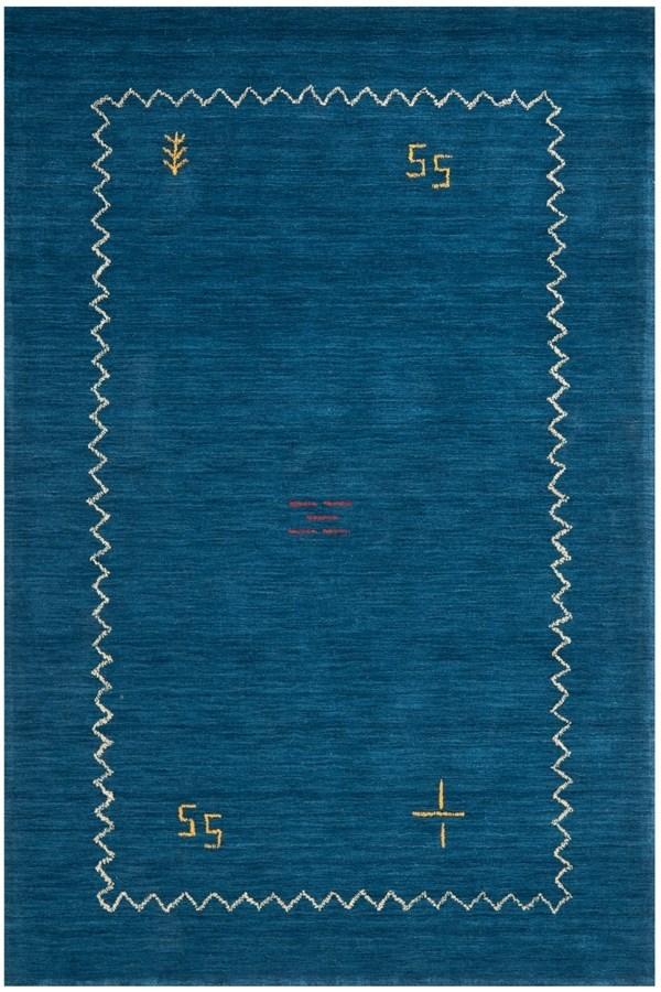 Blue, Ivory (A) Southwestern / Lodge Area Rug