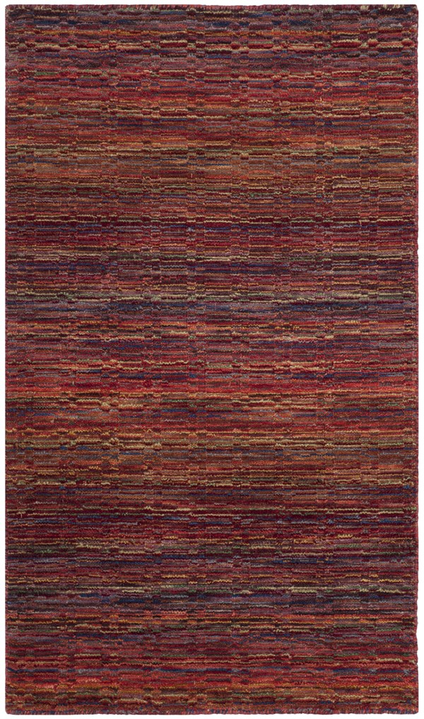 Red (A) Transitional Area Rug