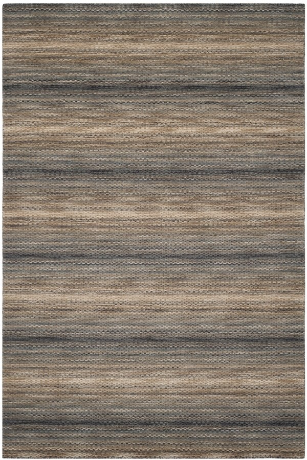 Grey (A) Striped Area Rug