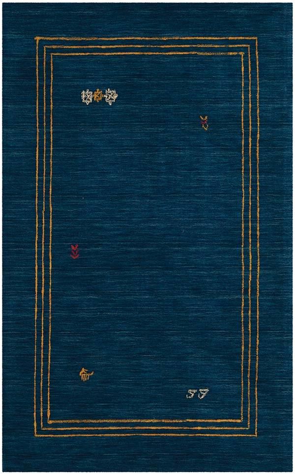 Blue (A) Bordered Area Rug