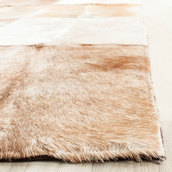 Beige, Brown (A) Animals / Animal Skins Area Rug