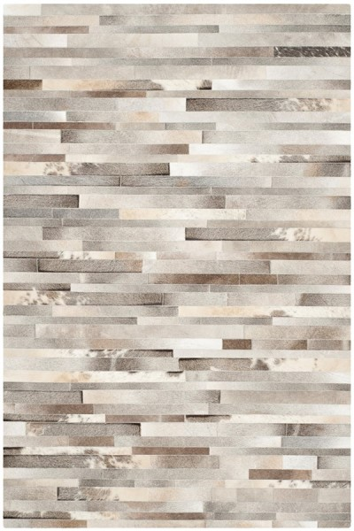 Grey, Ivory (A) Contemporary / Modern Area Rug