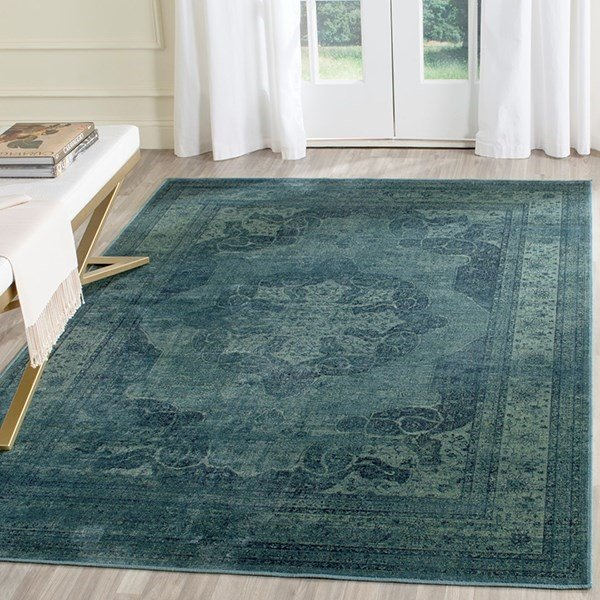 Blue (2220) Traditional / Oriental Area Rug