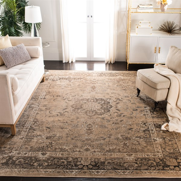 Warm Beige (660) Traditional / Oriental Area Rug