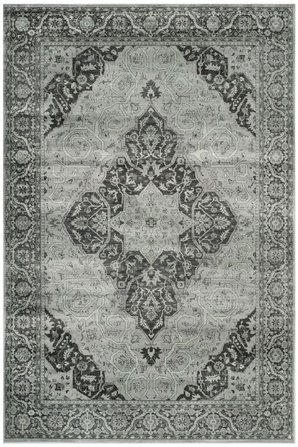 Light Blue (110) Traditional / Oriental Area Rug