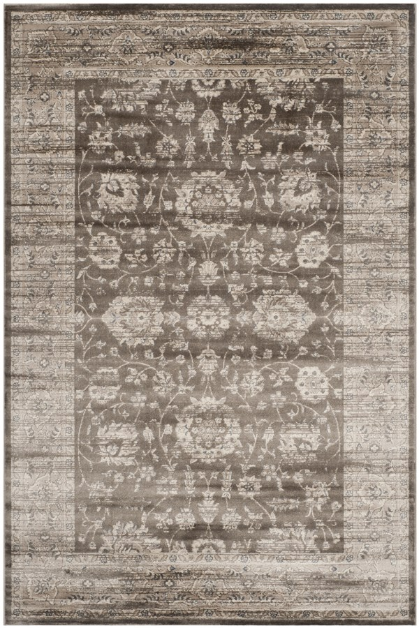 Brown, Ivory (B) Traditional / Oriental Area Rug