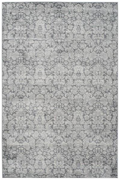 Dark Grey, Light Grey (H) Traditional / Oriental Area Rug