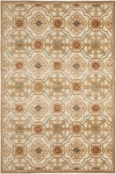 Taupe, Cream (MSR-4459-1642) Contemporary / Modern Area Rug