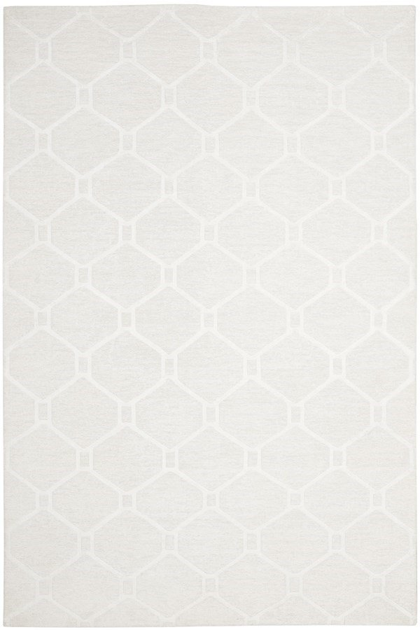 Milk White (MSR-5753A) Textured Solid Area Rug