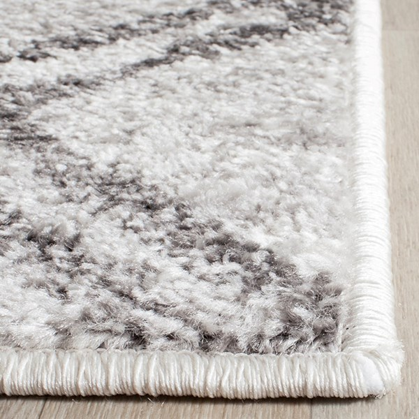 Silver, Charcoal (P) Transitional Area Rug