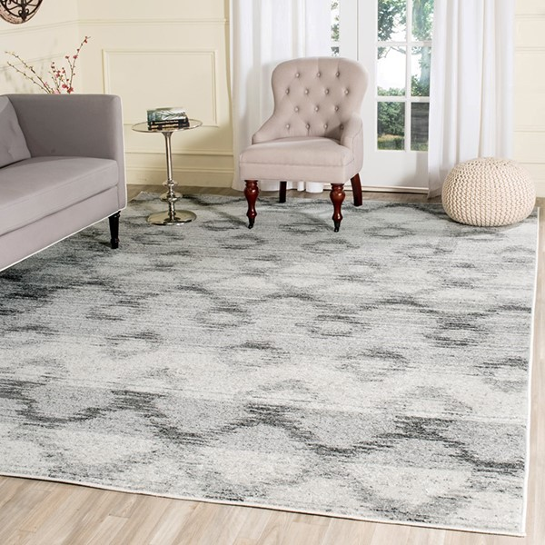Silver, Charcoal (P) Moroccan Area Rug